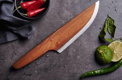 couteau chef en bois